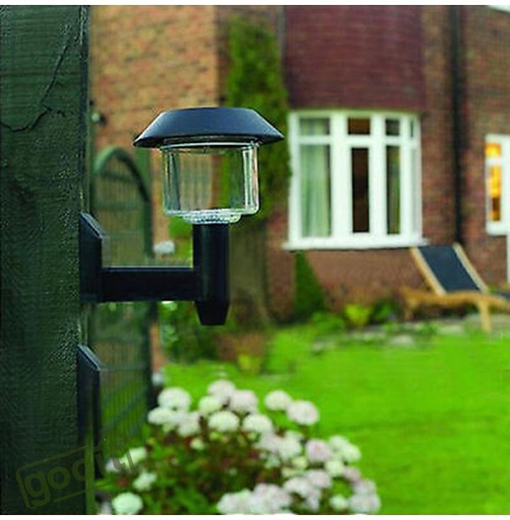 1piece Solar Power Wall Light Fence LED Outdoor Lighting ...