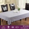 oilproof blue checker wholesale vinyl table cloth with flannel back