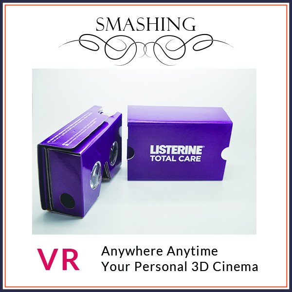 <strong>google</strong> cardboard with blue film vr <strong>google</strong> for <strong>business</strong> man