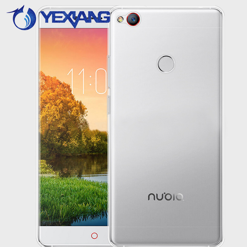 Ultra thin Color Soft TPU Transparent mobile phone back cove case for ZTE Nubia m2