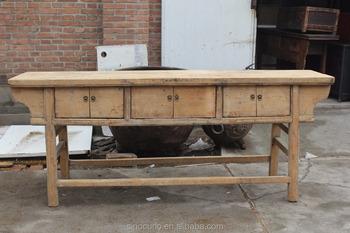 Legno Naturale Sbiancato : Riciclo del legno sbiancato naturale cinese antico consolle buy
