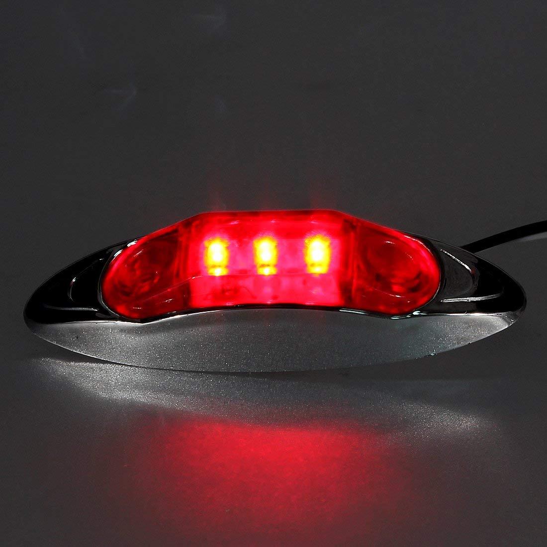 Fincos Waterproof 12V LED Side Marker/Clearance Light for Truck/Trailer