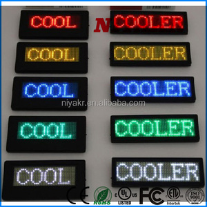 LANPAI Direct Manufacturer Rechargeable Mini Led Name Badge/Mini Led Message Display