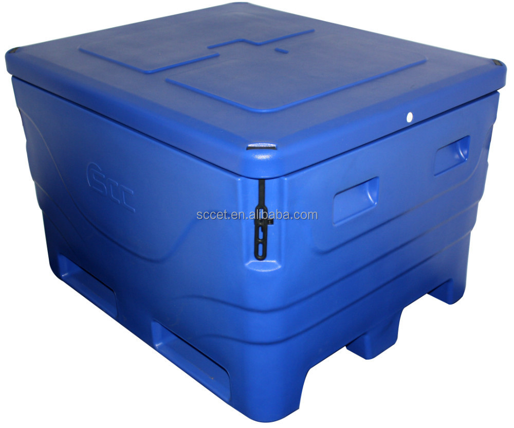 top quanlity rotational moulding insulated plastic fish ice cooler box,used fish cooler box