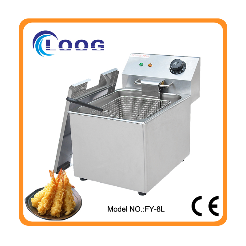 Electric Countertop Fryer 1 Basket 1 Tank Deep Fryer Commercial Industrial Fryer