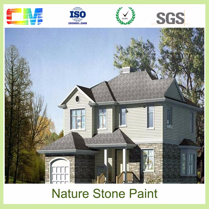 Waterbase waterproofing sand stone texture paint for interior and exterior wall coating