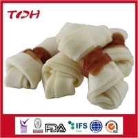 Rabbit meat wrap knotted bones for dog treats,wholesale pet food price