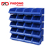 Guarantee commercial storage boxes bins plastic zag storage bins