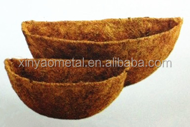 Coco mat Half round coco liner used for wall baskets Coco fiber CLW00012