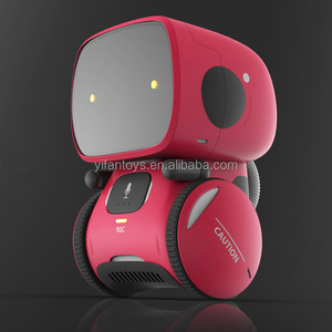 Mini robot gift kids toy voice interactive control robot