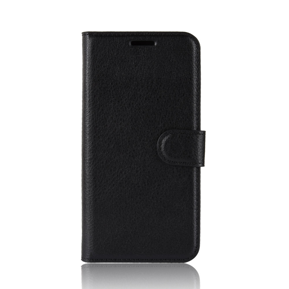 Litchi PU Card Holder Wallet Flip Leather Case For Wiko View Max