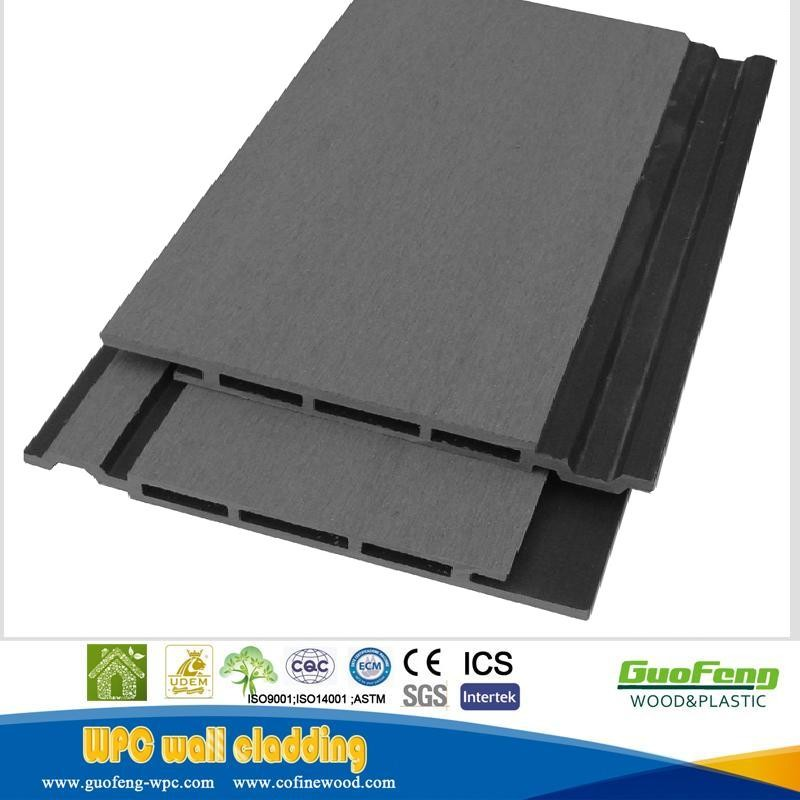 2017 Hollow Waterproof Exterior Wpc Wall Cover Wall Cladding Panel