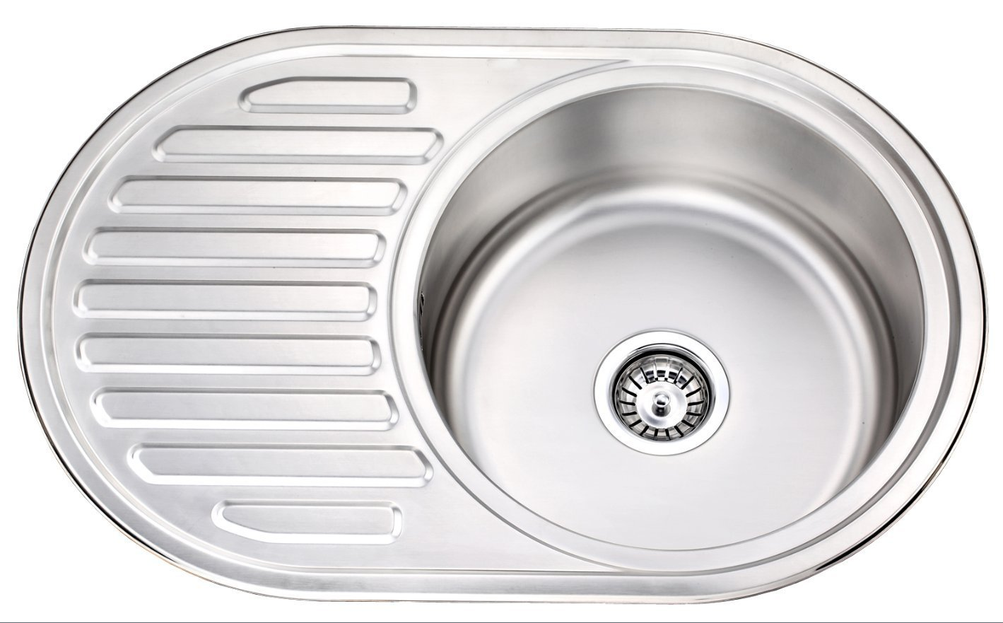RV Caravan Camper Boat Camping Trailer Stainless Steel Kitchen Sink Round Shape with Drain Board GR-520