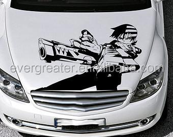 Fashion Design Adhesive Car Bonnet Sticker Buy Car Bonnet - Graphics for car bonnets