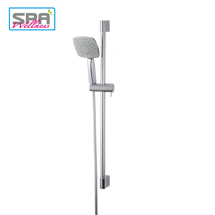 Different Jet Settings Adjustable Height Square Rain Shower Head Set