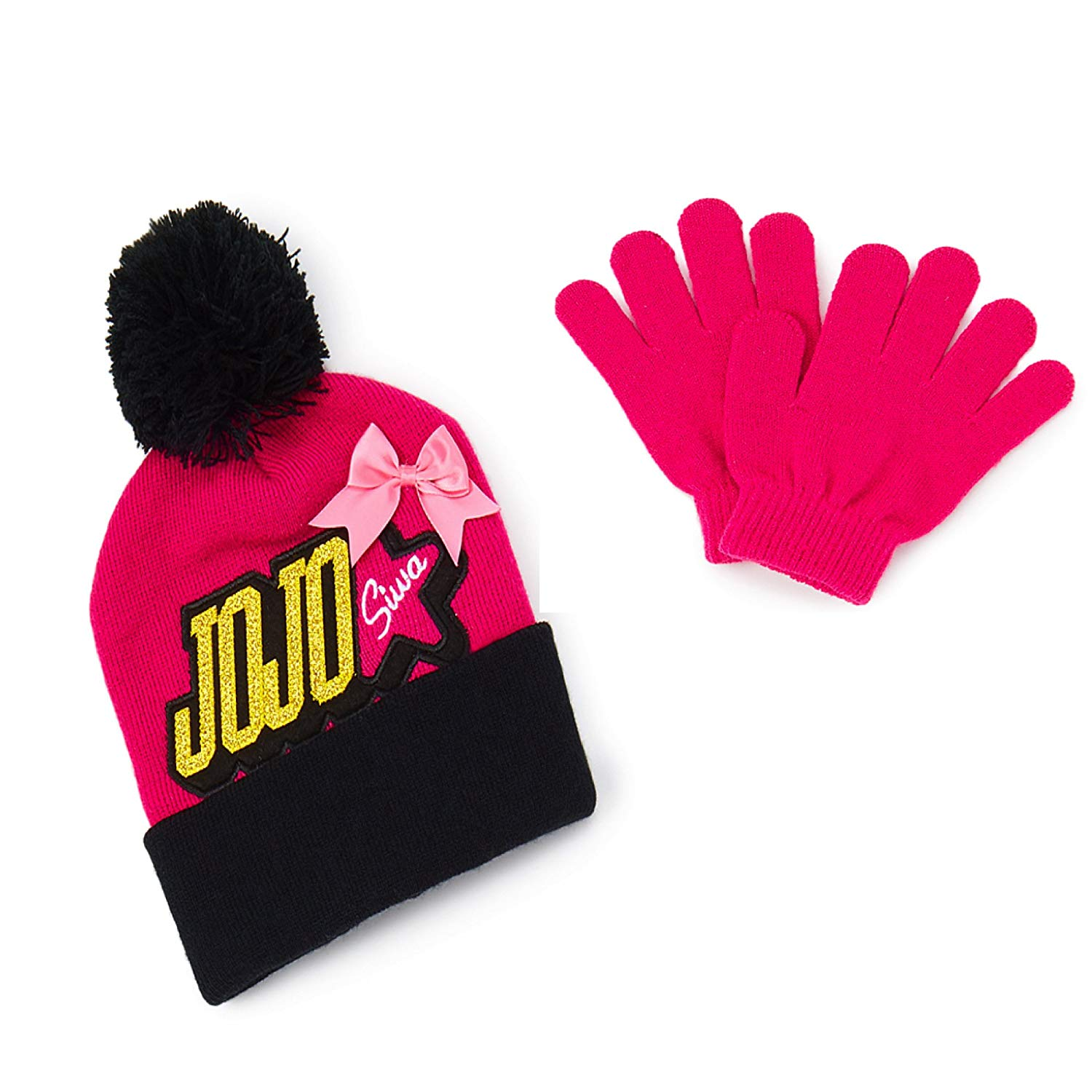 f9de8e8a28f JoJo Siwa Nickelodeon Girls  Beanie Knit Hat   Glove Set