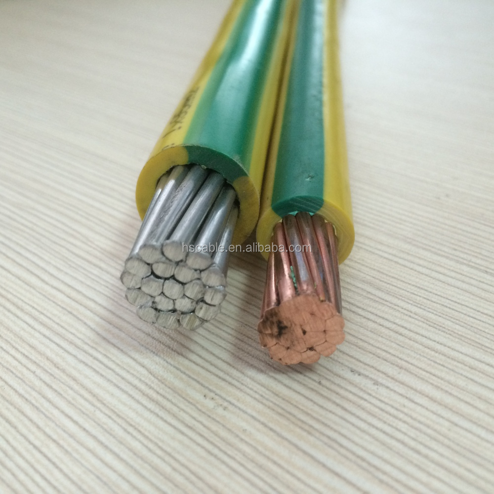 Yellow Green 10mm2 16mm2 25mm2 35mm2 50mm2 70mm2 95mm2 Aluminum Copper Electrical Wire View Single Core Earth Cable