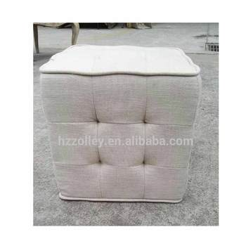 Stupendous White Beige Color Tufted Upholstered Fabric Small Square Shaped Pouf Seat Portable Ottoman Buy Fabric Pouf Seat Portable Ottoman Upholstered Ottoman Gmtry Best Dining Table And Chair Ideas Images Gmtryco