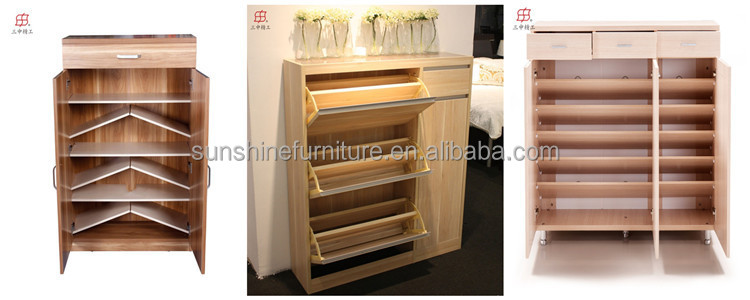 China Supplier Wooden Shoe Rack 50 Pairs
