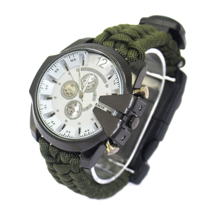best selling Wholesale Outdoor Survival Waterproof paracord watch With Adjustable Band