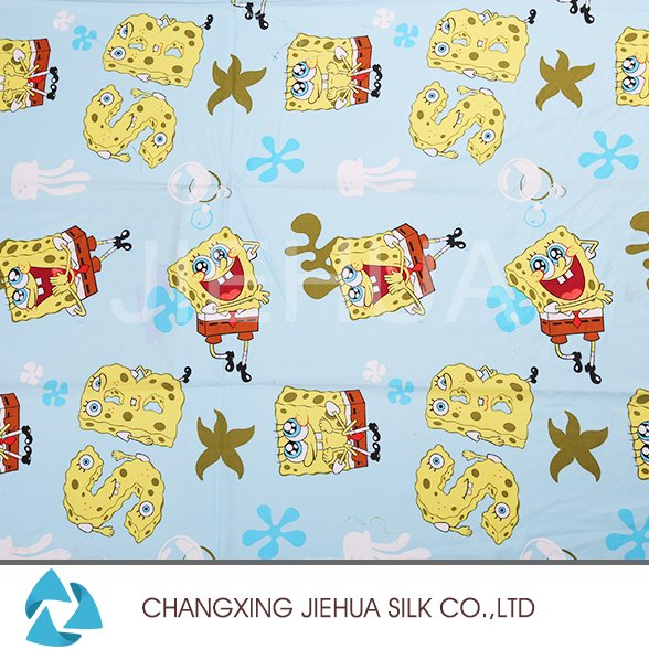 Direct buy china 100 polyester cartoon pattern print fabric