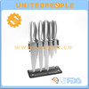 Yangjiang wholesale bulk unique 12 piece stainless steel kitchen knife set with acrylic stand