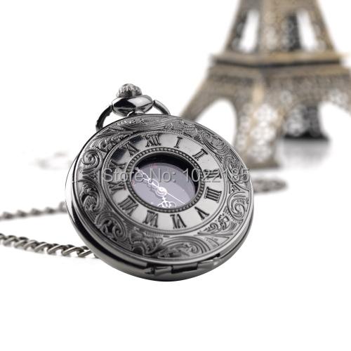 Стимпанк ретро старинные механические урожай мужская мода роман количество кварцевые стимпанк карманные часы