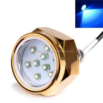 Ultra Bright 27w Rgb Led Boat Drain Plug Underwater Light Water Proof Marine 12 Volt Lights Ip68