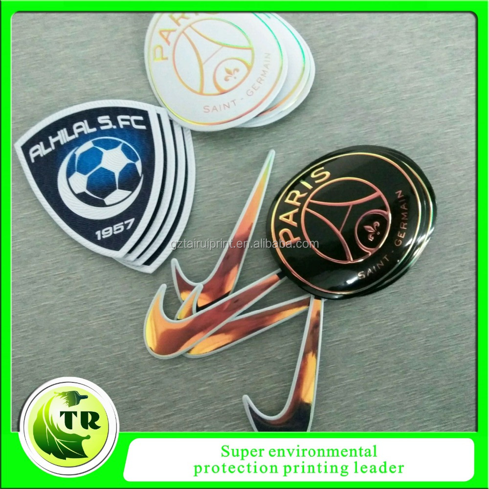 Custom 3D rainbow TPU heat transfer team badges for football club jersey