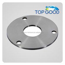 Construction Industry use mirror polish modern Stainless steel railings round handrail base plate cover for cheap price