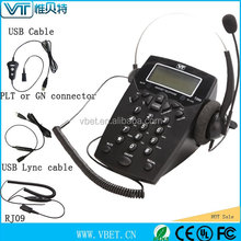 Best Selling Call center communication dial pad headset telephone & headphone telephones with rj11 plug