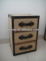 jute chest of drawer ,antique chest drawers,nature 3 drawers chest
