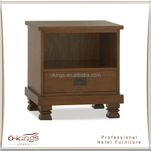 Antique design hotel bedside table with drawer