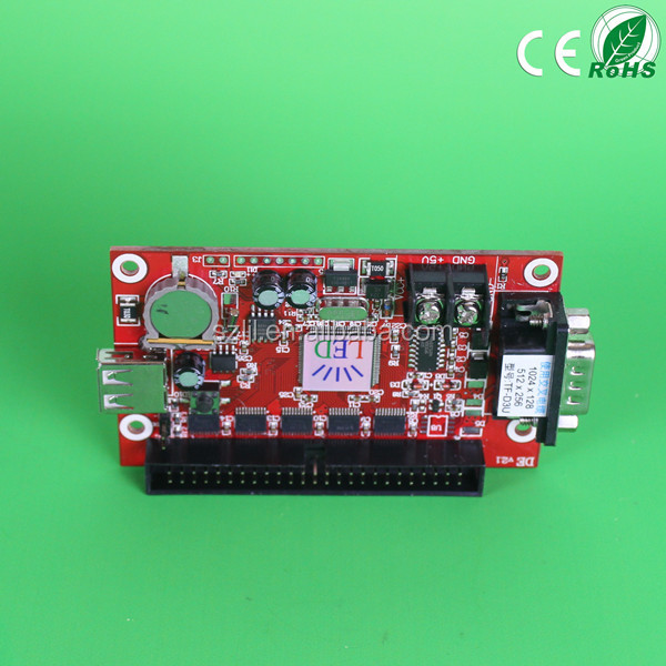P10 LED module Controller TF-D3U card with 50 Pin General Output Interface