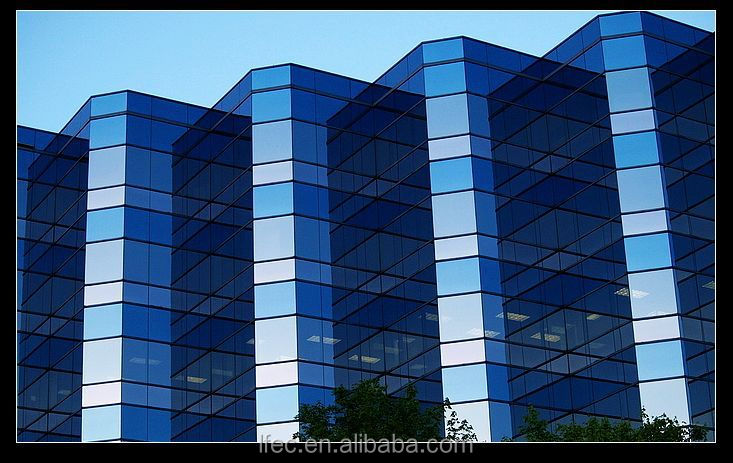Prefab Double Wall Glass Sound Absorption Insulation Steel Glass Wall Prices