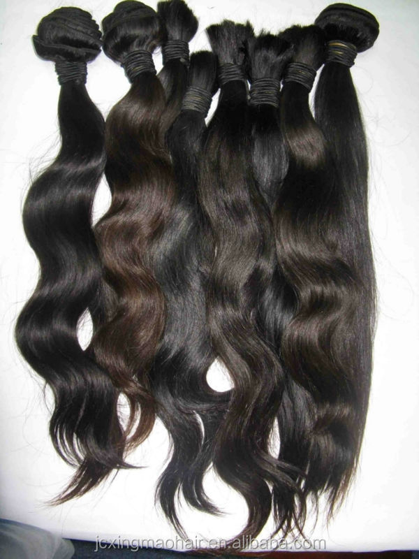 Charming high quality 100%natural wavy indian hair