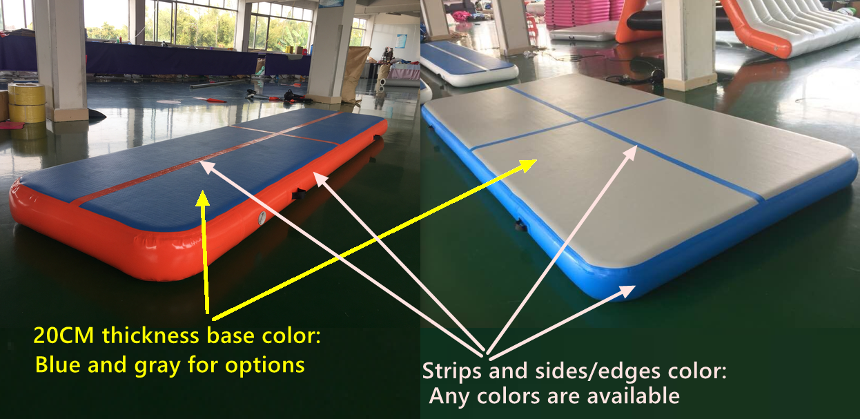 Factory Wholesale Inflatable Tumble Track for sale, outdoor inflatable air tumble track for gymnastic, air track mat for gym