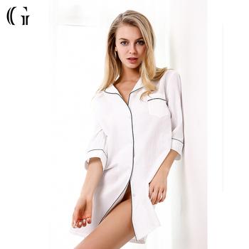 5633308663 Factory Women Bamboo Sleepwear Summer Hot Sale Nightshirt - Buy ...