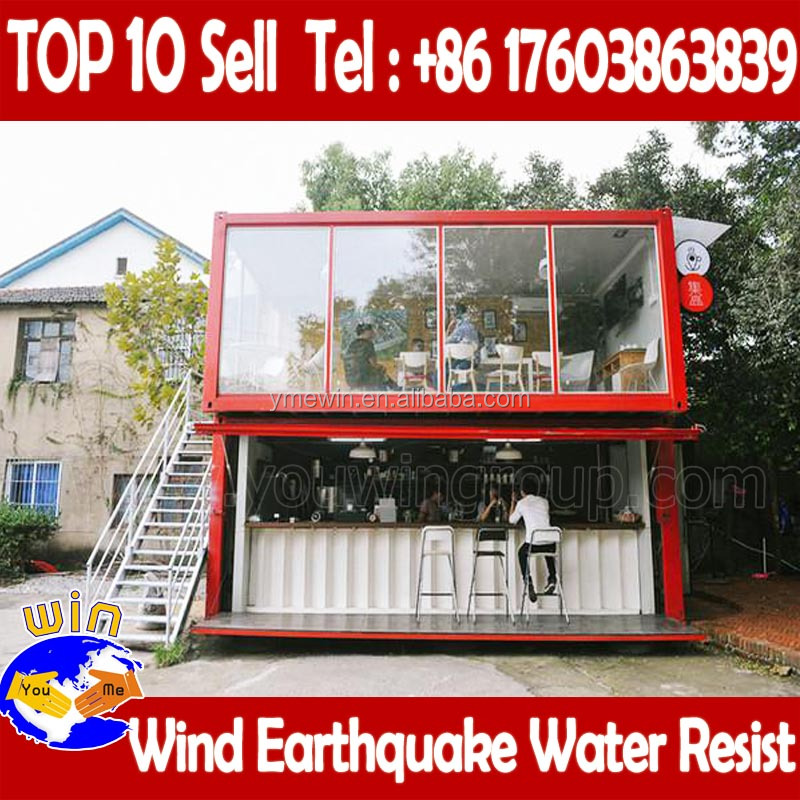 Mobile portable prefabricated shipping container coffee shop