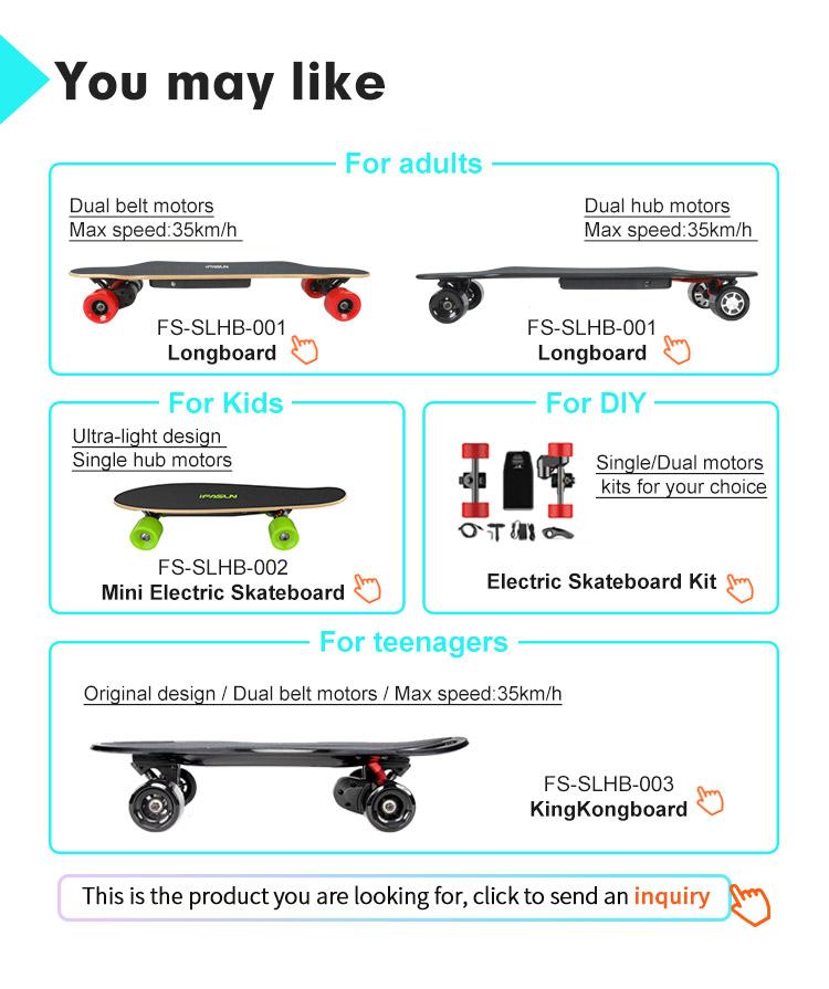 IFASUN fornecimento de 100% Canadá Maple longboard convés 35 kmh elétrica fornecedor de garantia de comércio