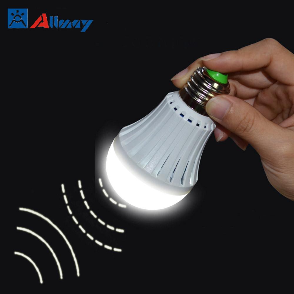 4 w sensor de movimiento bombilla led emergencia - Sensor de movimiento luz ...