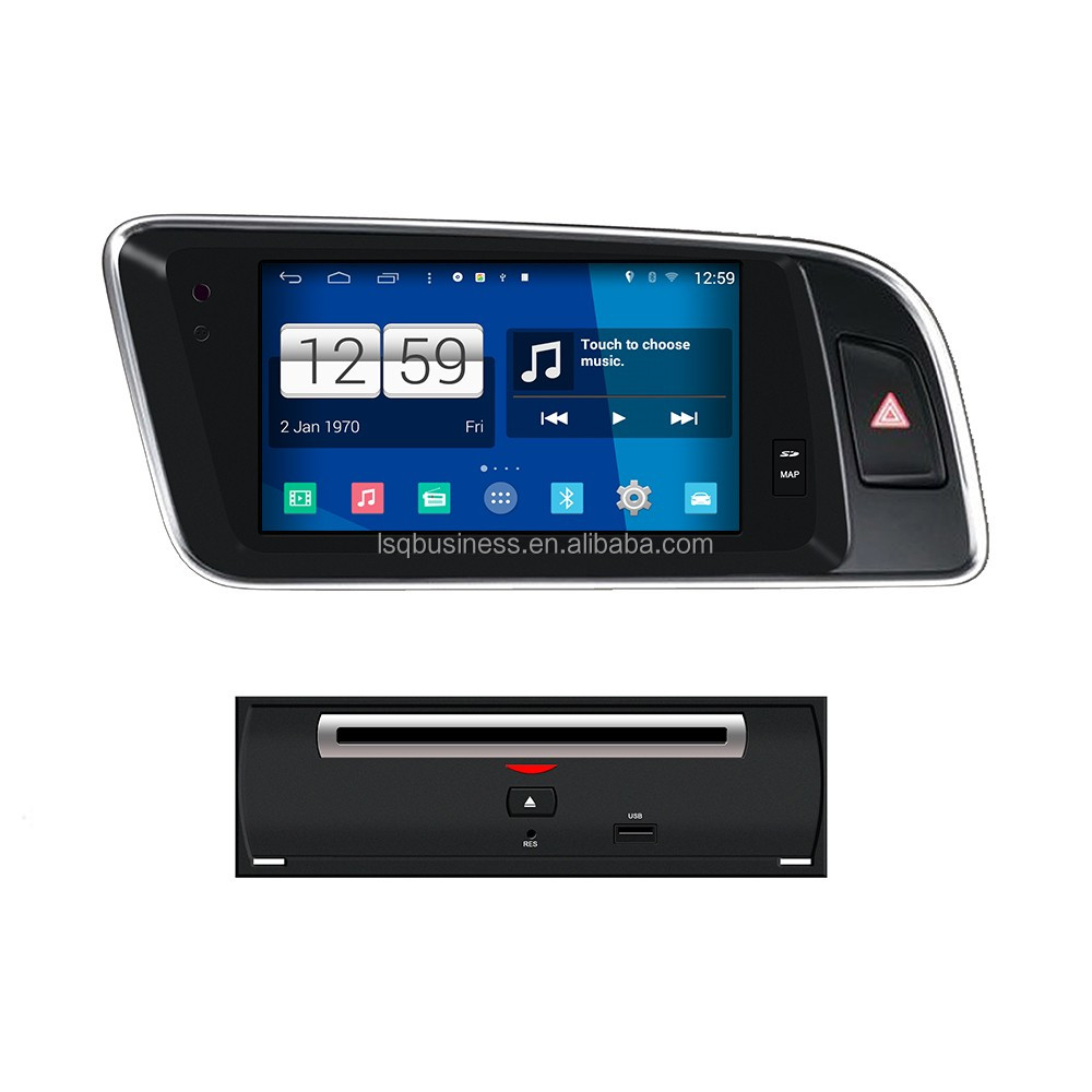 Android 4.4.4 HD 1024*600 car radio/stereo dvd gps player with wifi,bluetooth for Audi Q5