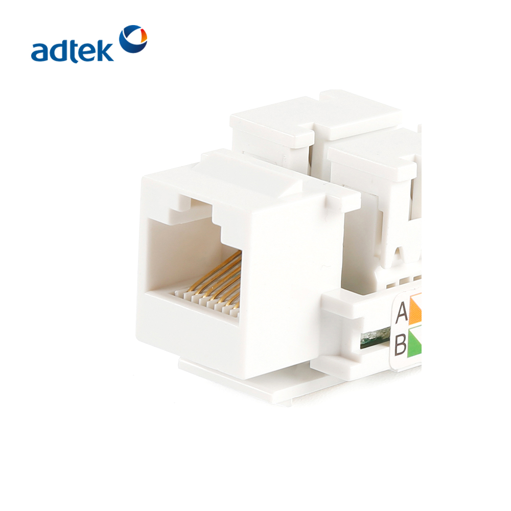 Listed RJ45 180 Degree Keystone Jack With Dust Proof Shutter Good Price