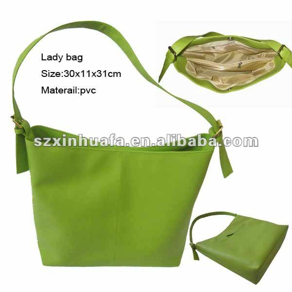 (XHF-LADY-117) artificial leather fashion cheap handbag for women girls pvc fashion bag fashion ladies belts bags