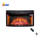 33 inch curved front master flame fireplace insert electric remote control