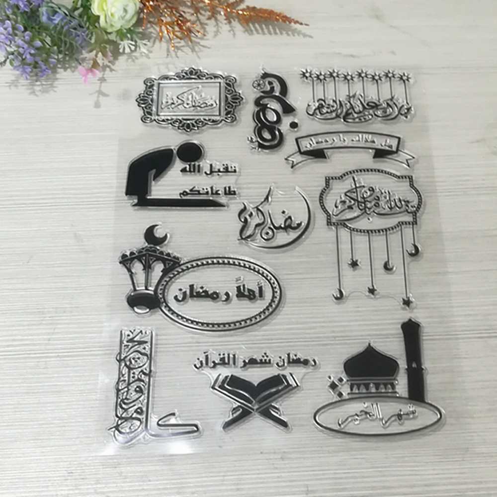 <strong>Arabic</strong> language Transparent Clear Stamp DIY Silicone Seals Scrapbooking/Card Making/Photo Album Decorative