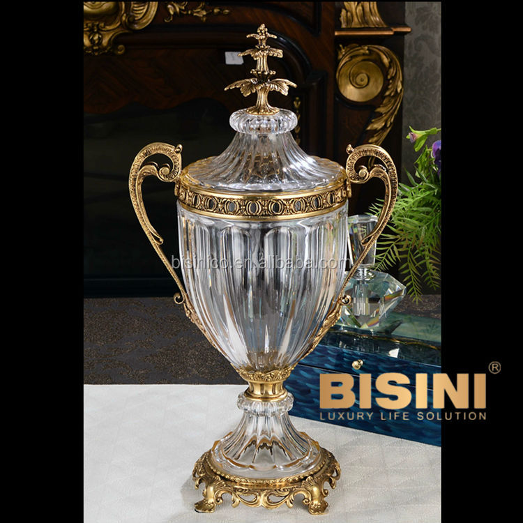Luxury Brass With Crystal Home Decoration Trophy Urn Decorative Vase Buy Trophy Urn Decorative