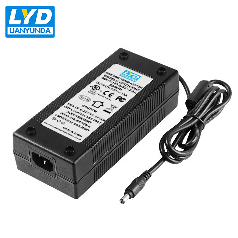 100-240 v C14 desktop schalt power 12 v 10a adapter