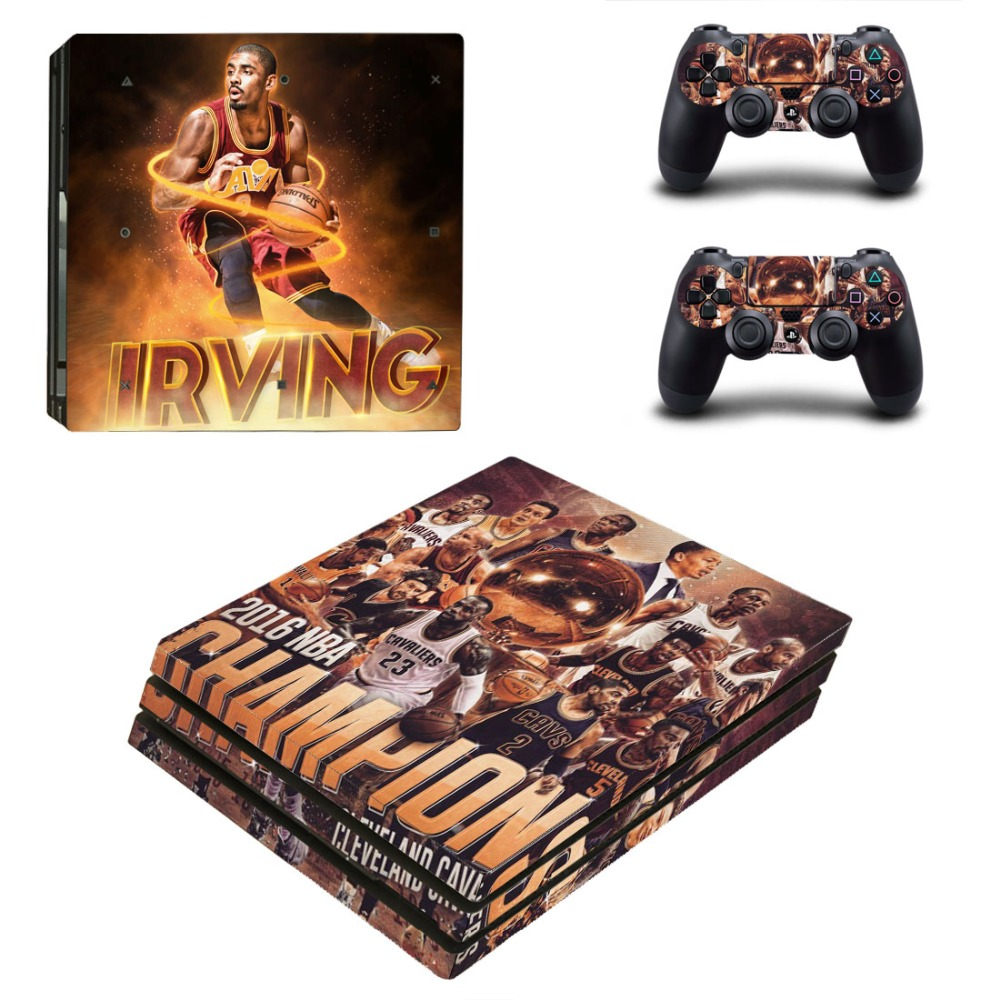buy popular c0333 fe47b US $9.49 5% OFF|Kyrie Irving Skin Sticker for Sony PS4 PRO Console and 2  Controllers Decal Skins for PlayStation 4 PRO-in Stickers from Consumer ...