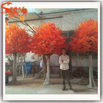 New Products Stylized Size And Shape Large Artificial Tree Red Maple